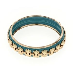 Slip-on Blue Bangle Bracelet
